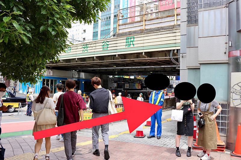 渋谷駅からスタジオへのアクセス2