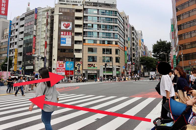 渋谷駅からスタジオへのアクセス4