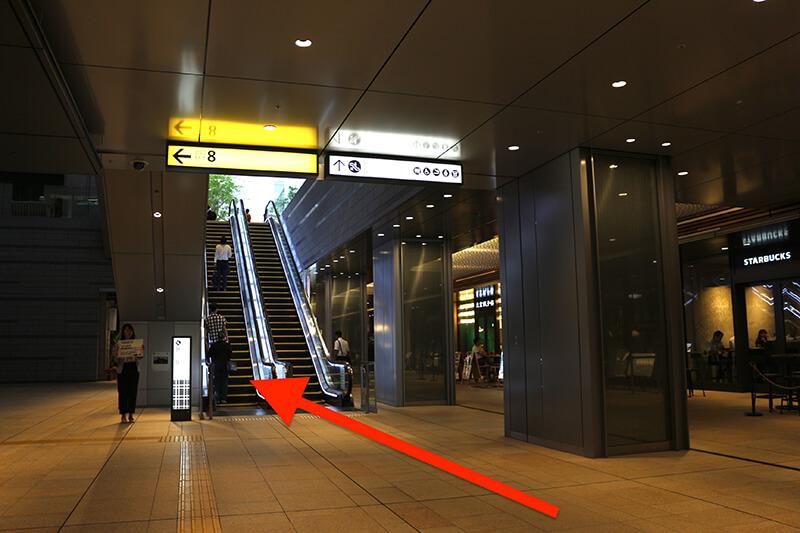 メトロ京橋駅線からスタジオへのアクセス2