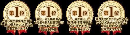 就活写真スタジオ口コミNo.1に選ばれたロゴ