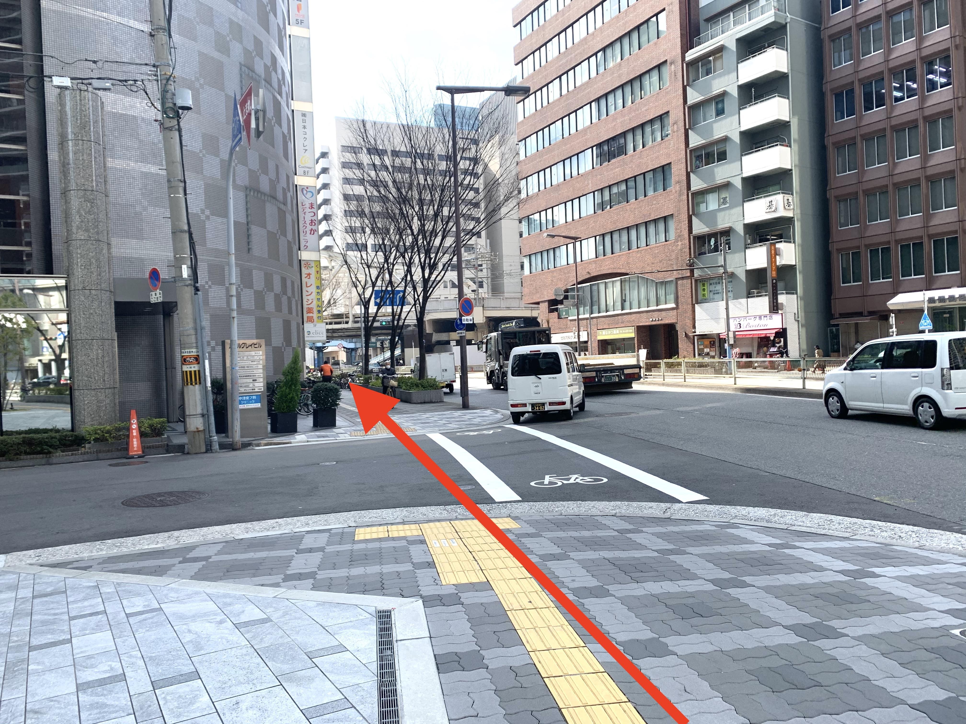 御堂筋線中津駅から スタジオインディ大阪梅田スタジオへの アクセス2