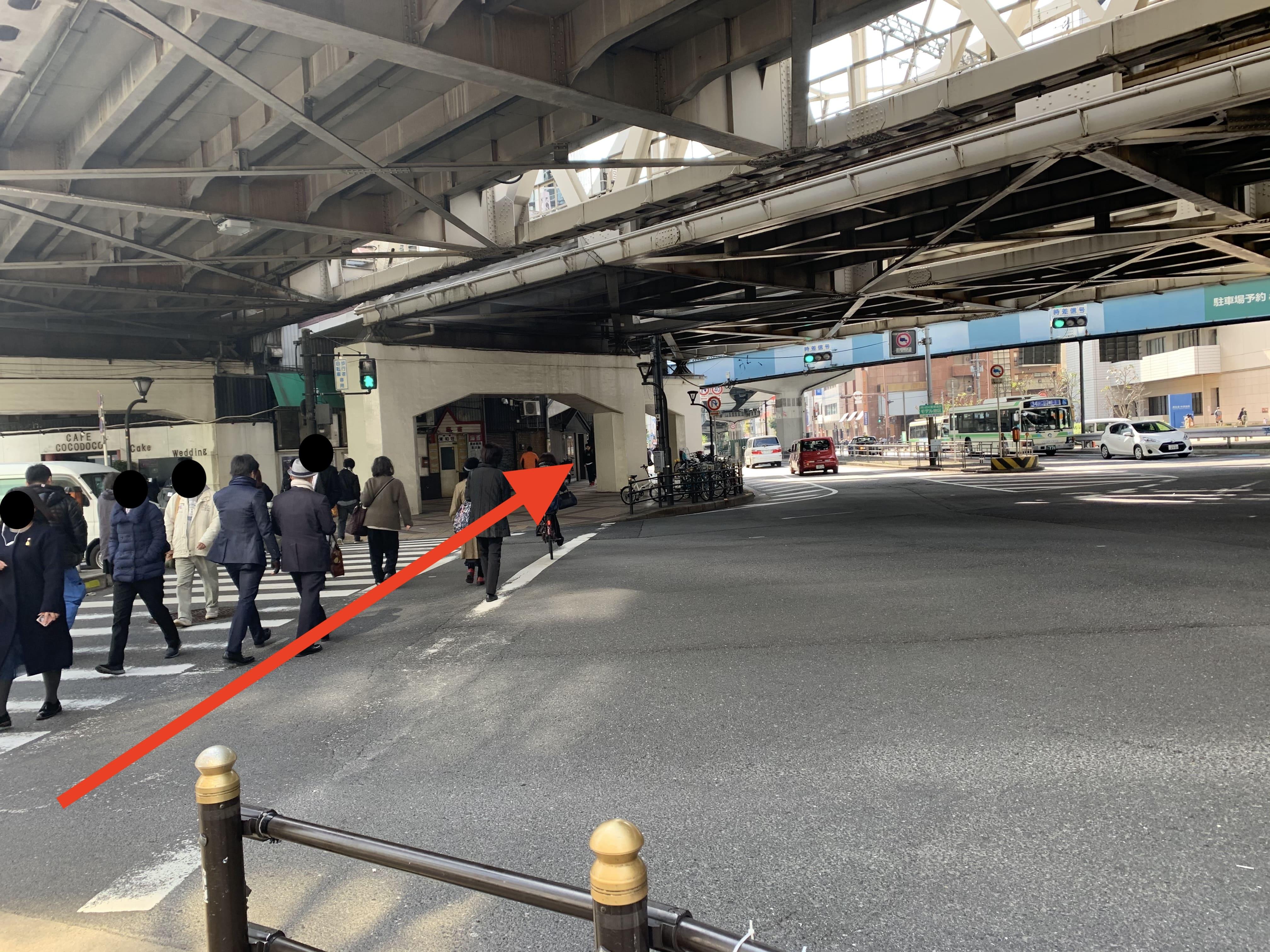御堂筋線中津駅から スタジオインディ大阪梅田スタジオへの アクセス4