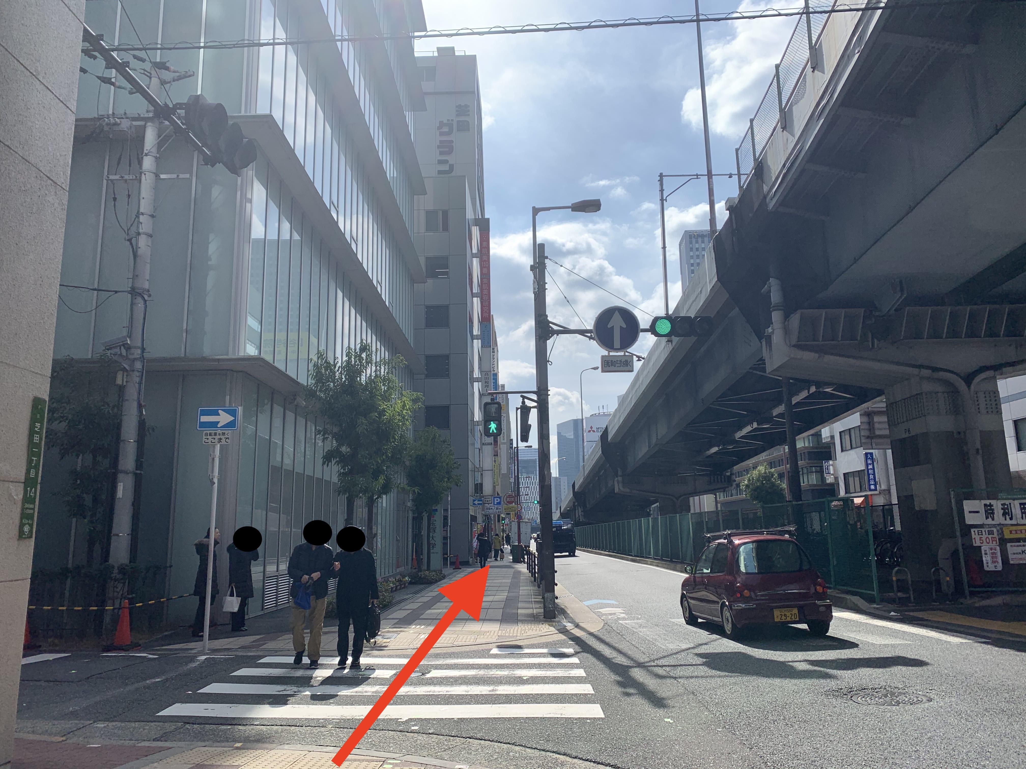 御堂筋線中津駅から スタジオインディ大阪梅田スタジオへの アクセス5